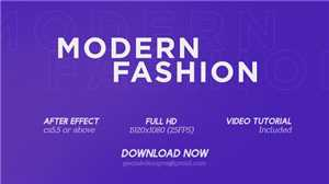 Download DesignOptimal - VideoHive Modern Fashion 24090797 - After Effects Templates