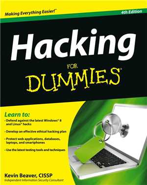 Download Hacking for Dummies, 4th edition by Kevin Beaver