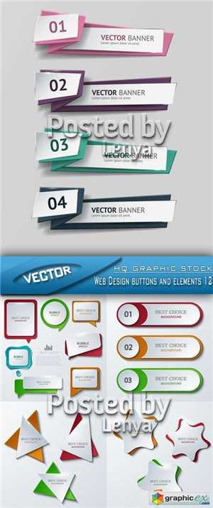 Download Stock Vector - Web Design buttons and elements 12